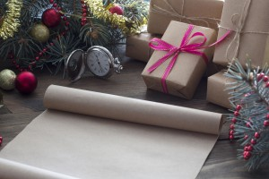 scroll of old parchment Christmas gifts