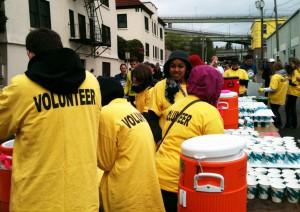 Volunteers Water Station 3