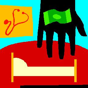 money hand bed stethascope